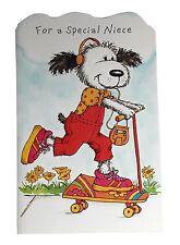 Birthday Greeting Card Niece Puppy Dog Skateboard For a Special Niece