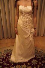 Vestito abito da sposa nuovo atelier italiano taglia 44 avorio seta Maggie
