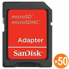 50 X SanDisk microSD micro SD to SD SDHC SDXC Adapter fit 4GB 8GB 16GB 32GB 64GB
