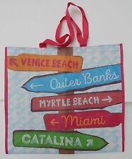 REUSABLE SHOPPING TRAVEL TOTE BAG DIRECTIONS ECO FRIENDLY MARSHALLS NEW