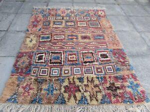 Vintage Traditional Hand Made Oriental Red Wool Sumac Gabbe Kilim Rug 210x160cm