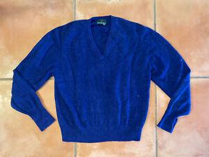 Men's The Scotch House Cashmere Sweater Sz 44 Blue V Neck Pullover