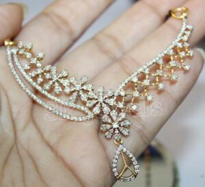 1.80ct Natural Round Diamond 14K Solid Yellow Gold Anniversary Wedding Necklace
