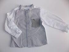 bellybutton Mini Boys Hemd 1/1 Arm gr. 80 gestreift grau / weiß