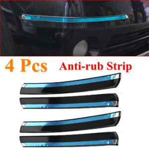 4 Pcs Car Front+Rear Bumper PVC Crash Anti-rub Strip Rubbing Strip Self-adhesive