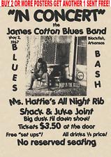 BLUES POSTER VINTAGE HARMONICA COTTON MUDDY BB CONCERT MUSIC CONCERT ROCK
