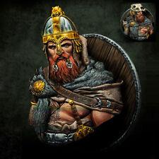 1:10 Resin Viking Warrior Figure Model With 2 Heads Garage Kit Unpainted Statue