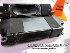"LG 42"" 42LN5400-UA Speakers 8 Ohms 10 Watts with mounts and wiring harness"