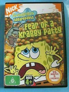 SPONGEBOB SQUAREPANTS Fear of a Krabby Patty DVD Region 4 see below