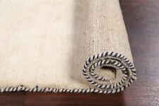 Thick Pile Contemporary IVORY Gabbeh Hand-Knotted 3'x5' Wool Oriental Area Rug