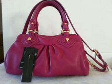 New With Tag MARC by Marc Jacobs Classic Q Baby Groovee Satchel Fuchsia Bag $378