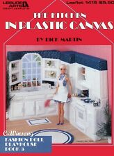 The Kitchen Playhouse Book 5 ~ fits Barbie doll, plastic canvas pattern book New