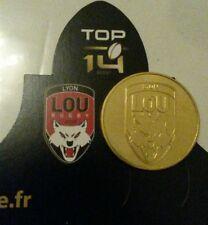 monnaie de paris rugby sport top 14 LYON LOU RUGBY 69 pièce dorée