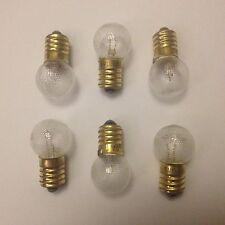 Sei x 6V BICICLETTA CICLO DYNAMO LAMPADINE 6 Volt 0.5 A 0.5 amp 3 Watt 6x