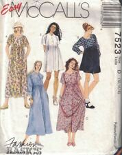 McCall's 7523 Misses Loose Fitting Dress in 2 Lengths w/ Sleeve Variations 12-16