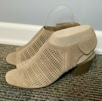 Sonoma NEW Women's Suede Sandals Size 10 M Tan Beige Taupe Perforated