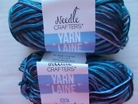 Rose Fog Variegated Loops/&Threads Impeccable yarn lot of 2 187 yards ea
