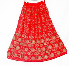 Indian Sequins Skirt Boho Belly Dance Hippie Gypsy Rayon Maxi Skirts