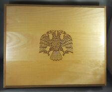 6 Certified Coin Slab Maple Wood Box Russia - two headed eagle -Graded NGC Case