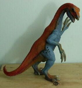 "Therizinosaurus D-73527 Dinosaur SCHLEICH 10"" Red Blue Realistic Figure 2013"