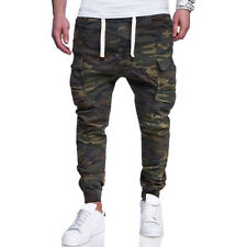 Personality Camouflage Drawstring Casual Long Pants - Army Green