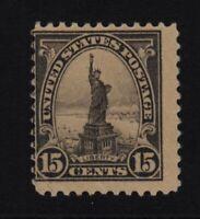 1922 Statue of Liberty Sc 566 gray 15c MNH single  CV $35