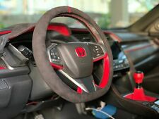 """D type"" ALCANTARA STEERING WHEEL COVER for HONDA Civic Type R [COLOR: CHARCOAL]"