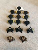 US Military Rank Pins Lot Of 15