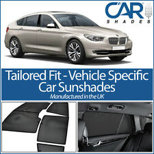 BMW 5 GT 5 Door 2009 on UV CAR SHADES WINDOW SUN BLINDS PRIVACY GLASS TINT BLACK