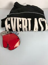 Vintage 90s Everlast Black Sweatshirt Muscle Gym Boxing Shirt L USA Made