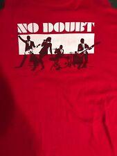 No Doubt Tour T Shirt Gwen Stefani Mens 2XL Rare