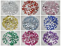 2000 Acrylic Round Faceted Rhinestone Gem Flatback Gems 3mm 10ss Pick Your Color