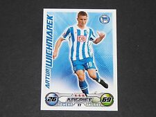 WICHNIAREK HERTHA BERLIN MATCH TOPPS ATTAX PANINI FOOTBALL BUNDESLIGA 2009-2010
