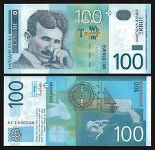 Serbia 100 DINARA N.Tesla 2003 P 41 UNC Series AC