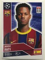 2020/21 Topps Champions League Sticker Ansu Fati FC Barcelona BAR 15 INVEST