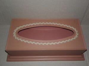 Vintage Tissue Box Holder Cover Fesco  Pink