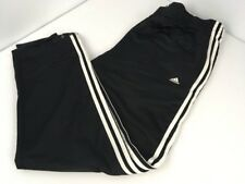 Vintage 90s ADIDAS Black/White 3 Stripe Shiny Soccer Futbol Practice Shorts XL