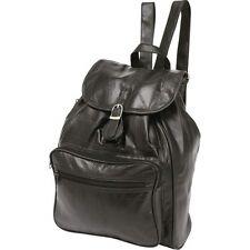 Black Genuine Leather BACKPACK Shoulder Straps Sling Purse Handbag Travel Tote