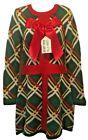 Festive Ugly Christmas Sweater Dress, Women's Medium, 'Do Not Open Til Xmas'