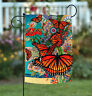 Toland Monarch Madness 12.5 x 18 Colorful Spring Butterfly Flower Garden Flag