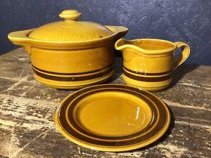 Vintage Retro Casserole Dish Jug And Plate
