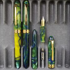 Bobby Launch LORELEI Resin Fountain Pen Golden Clip Converter Pen Fine Nib
