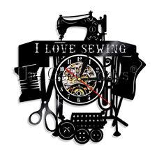 Sewing Machine Wall Clock Quilting Vinyl Record Wall Clock Sawing Seamer Gift