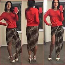 VERONIKA MAINE classic 50s fine knit cardigan s 8 10  RED cardi chic CLASSIC xc