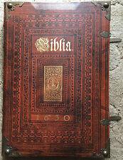 MERIAN Kupferbibel Biblia 1630 Farbe Coron-Verlag 1985 incl. Flyer. Top Zustand