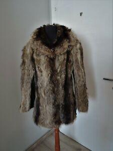 Vintage Jacket Real Fur of Groundhog Brown M Coat