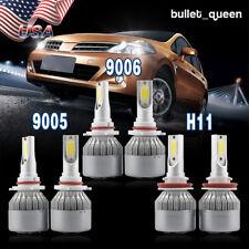 9005 + 9006 LED Headlight + H11 Fog Light for Honda Accord 2008-12 Civic 2006-13