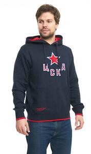 "HC CSKA Moscow ""Classic"" KHL sweatshirt hoodie with pocket, blue"