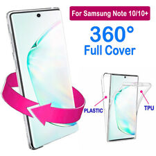 360° Full Body Case For Samsung Galaxy Note 10 Plus Slim TPU + PC Clear Cover