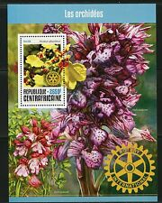 CENTRAL AFRICA 2016 ORCHIDS ROTARY INTERNATIONAL   SOUVENIR SHEET MINT NH